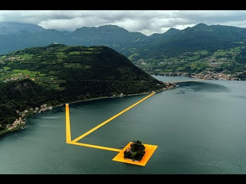 The Floating Piers Tour in Elicottero Video