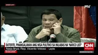 Duterte, pinangalanan ang mga pulitiko sa inilabas na 'narco list'