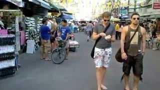 タイの通り・街並カオサン通り
