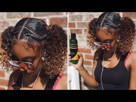 Curly hairstyles - Easy Natural Curly Hairstyle  - feat. KaeKoes Products