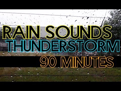 thunder - Relax to the sound of Rain and Thunder from inside a car.