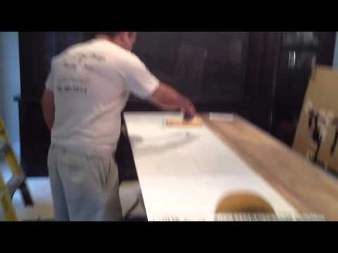 Installing the First Sheet of Wallcovering