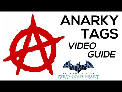tags - Batman Arkham Origins All Anarky Tags Locations Video Guide · Find and examine all the Anarky Tags in South Gotham in the Cold, Cold Heart DLC to unlock the 'Paint the Town Red' Achievement...