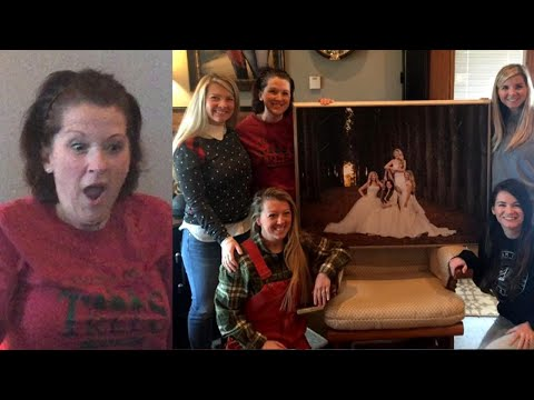 Mom Surprised With Special Portrait of 4 Daughters in Wedding Gowns