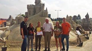 Zandsculpturenfestival ontvangt vijfentwintigduizendste bezoeker