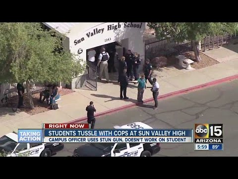 Students Tussle With Cops At Sun Valley High School
