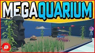Design & Build Your Own Mega-Aquarium! Megaquarium Gameplay #1