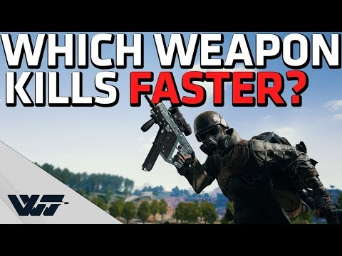 WHICH WEAPON KILLS FASTER? New PUBG Weapon Balancing - Time-to-kill Comparison