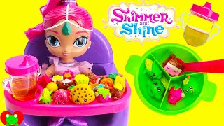 Video Best Toy Food Learning Video With Baby Shimmer's High Chair Shimmer and Shine MP3, 3GP, MP4, WEBM, AVI, FLV Januari 2019
