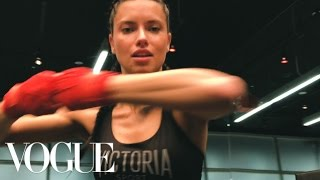 Adriana Lima 5 Moves to a Runway Ready Body | Vogue