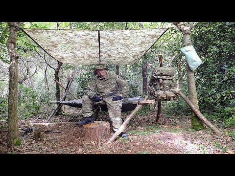 Survival Solo Forest 1, A-Frame Bed, Milbank Water, Wild Rabbit & Natural Flint Fire