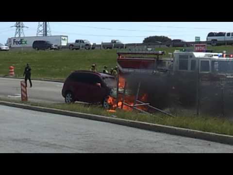 Kia burns down after driver operates vehicle with flat tire