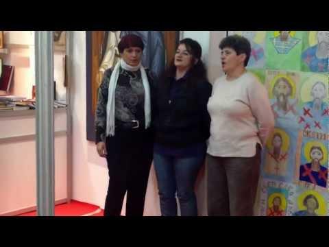 Peva najpre ženska, a potom muška grupa pevača Zavičajnog udruženja Banijaca u Beogradu