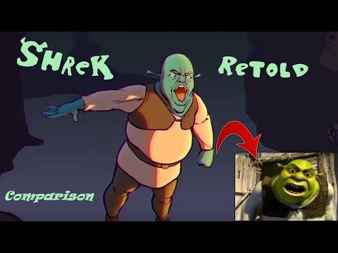 Shrek Retold Comparison (FULL MOVIE + Extra content)