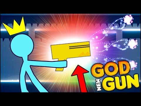 THE BRAND NEW SECRET WEAPON IS HERE - THE GOD GUN!! (Stick Fight Funny Moments #12) (видео)