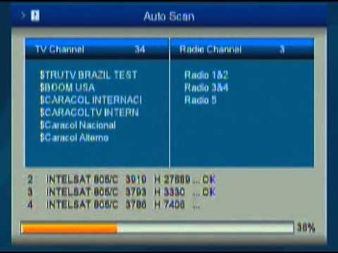 Azfox S2S en Banda C - Captura de Intelsat 9