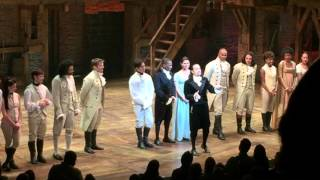 Hamilton curtain call 4/18/16 with Renée announcing Pulitzer Prize win!