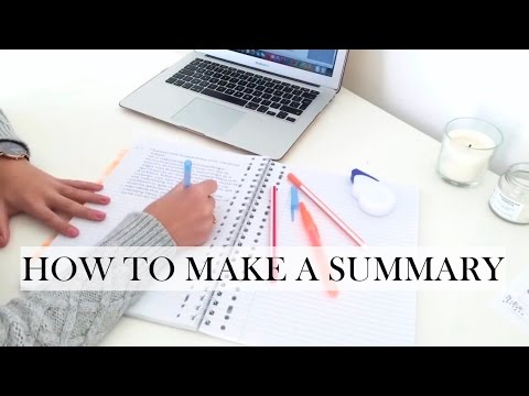 How To Make A Summary - Study Tips