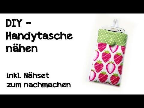 DIY - Handytasche nähen ( inkl. Nähset zum nachmachen )