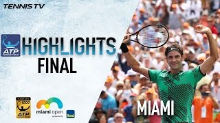Watch highlights as Roger Federer rules once again at the Miami Open presented Itau. Watch live matches at http://tnn.is/streamlive. Photo: Getty Images.