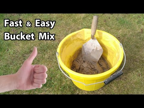 How to Mix small amount of Sand Cement Mortar by hand