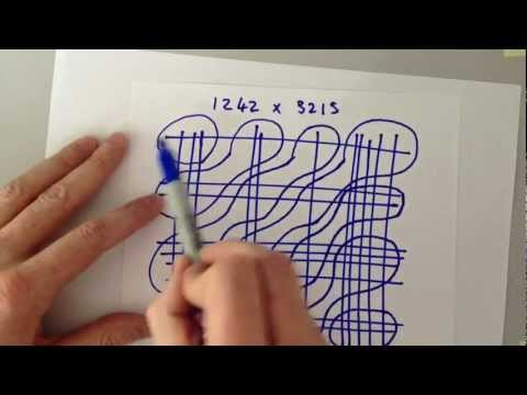 Teach your kids big number multiplication the easy way (видео)