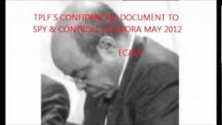 TPLF`S CONFIDENCIAL DOCUMENT TO SPY&CONTROLL DIASPORA MAY 2012.wmv