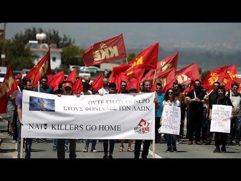 Κύπρος: Διαδηλώσεις στις ΒΒ Ακρωτηρίου