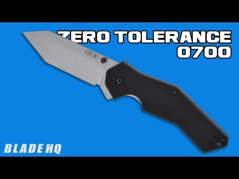 "Zero Tolerance 0700 Military G10 Folding Knife Tanto (3.375"" Stonewash) ZT"
