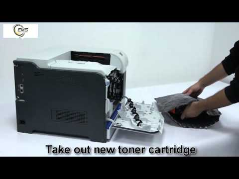 HP Laser Jet 500 Toner Cartridge Replacement - user guide (7536A,7536B,7536C,7536D)