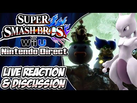 Super Smash Bros. Wii U: Live Reaction & Discussion (Nintendo Direct 10/23/14)