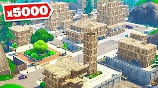 *5000* WOOD vs Tilted Towers in Fortnite Battle Royale!
