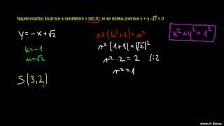 Naloga 15 – tangentni pogoj