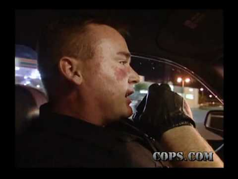 cops - http://www.youtube.com/copstv Officer Matt Fey of the North Las Vegas Police Department conducts a routine traffic stop on a vehicle that ran a stop sign. Of...