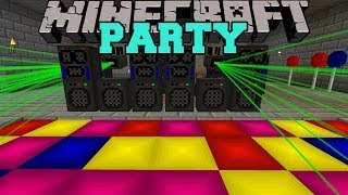 Minecraft: PARTY (SMOKE MACHINES, LASER LIGHTS, MUSIC,&MORE!) Mod Showcase