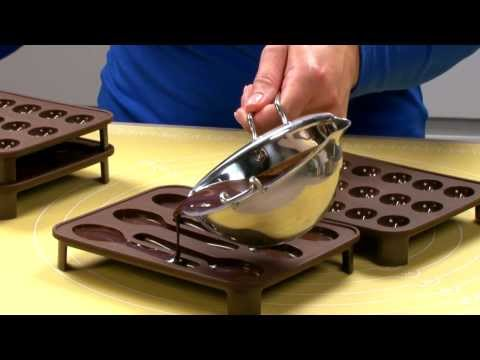 Видео Силиконовые формочки Tescoma Формочки для шоколада DELICIA Choco, ложечки Tescoma 629370