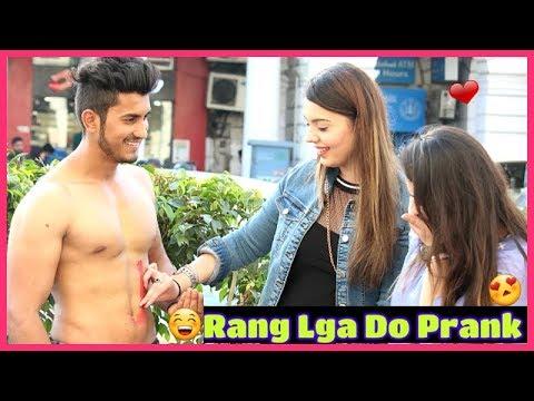 Shirtless Holi with Cute Girls  Sam Khan
