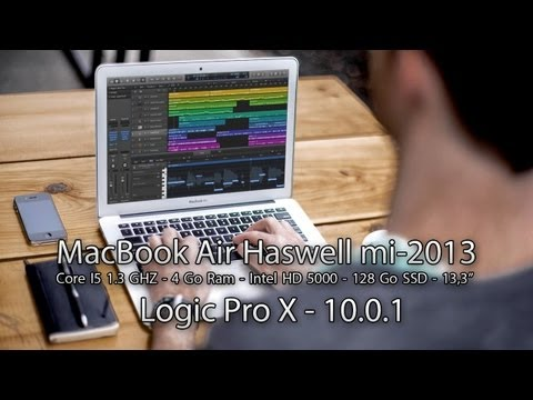 Test de performance – Logic Pro X 10.0.1 – MacBook Air Haswell Core I5 1,3Ghz