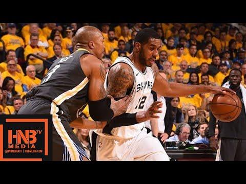 Golden State Warriors vs San Antonio Spurs Full Game Highlights / Game 2 / 2018 NBA Playoffs (видео)