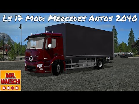 Mercedes Benz Antos 2040 case with accessories V1.1