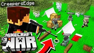 finding the Minecraft BANDITS hidden CAMP! (Minecraft War #16)