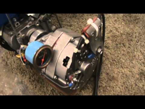 How To Make A Homemade And Built Generator Battery Charger Using A Delco Alternator And Gas Engine