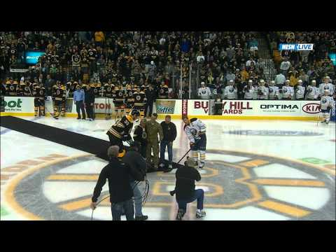 Bruins Surprise Parents With Son Home From Afghanistan