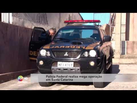 Polícia Federal realiza mega operação em Santa Catarina