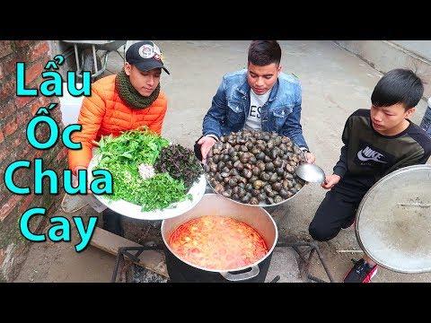 Hữu Bộ | Làm Nồi Lẩu Ốc Chua Cay Khổng Lồ | Giant Snails Escargot Hot Pot - Thời lượng: 13:26.