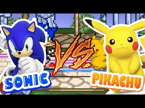 SONIC VS PIKACHU - Super Smash Flash 2   JOGOS ONLINE