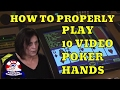 How To Properly Play 10 Common Video Poker Hands with Gambling Expert Linda Boyd