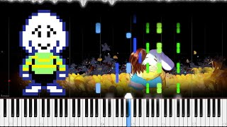 Undertale // His Theme | LyricWulf Piano Tutorial on Synthesia // TuTORIEL // OST 90