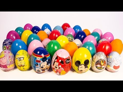 SURPRISE EGGS MICKEY MOUSE MINNIE MOUSE PEPPA PIG FROZEN ANGRY BIRDS PLAY DOH EGGS