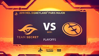 Team Secret vs Evil Geniuses, MDL Disneyland® Paris Major, bo3, game 1 [Jam & NS]